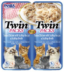 INABA TWIN PACK CAT - DWUPAK saszetek dla kota kurczak tuńczyk przegrzebki
