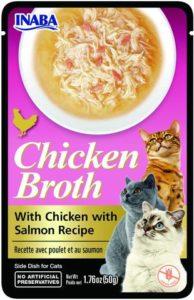 Inaba CHICKEN BROTH Rosół z mięsem z kurczaka i łososia dla kota 50 gr
