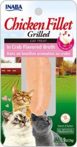 INABA Grilled Chicken - grilowany Filet z Kurczaka w bulionie Krabowym 25gr