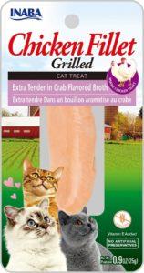 INABA Extra Grilled Chicken - grilowany Filet z Kurczaka w bulionie Krabowym 25gr