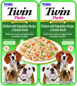 Inaba TWIN PACK DOG - DWUPAK saszetek dla psa kurczak warzywa