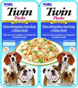 Inaba TWIN PACK DOG - DWUPAK saszetek dla psa kurczak warzywa ser