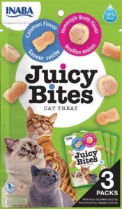 Juicy Bites wilgotny przysmak dla kotów Domowy Rosół & Kalmary y