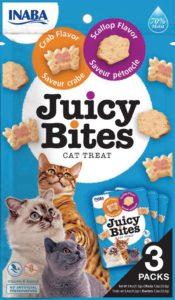 INABA Juicy Bites wilgotny przysmak dla kotów Przegrzebki & Krab