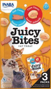 INABA Juicy Bites wilgotny przysmak dla kotów Ryba & Małże
